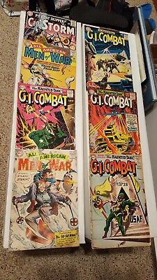 DC War comic lot, GI Combat, All American Men of War