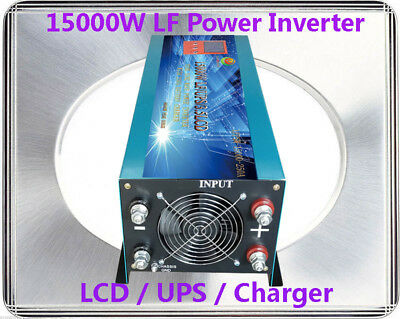 60000W/15000W LF Pure Sine Wave 24VDC/240VAC 50Hz Power Inverter LCD/UPS/Charger
