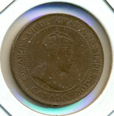 1906 Canada Large Cent, Au, Traces Of Red, Great Price!