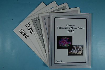 JH1688 Journal of the Fluorescent Mineral Society, Set of 5 issues