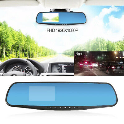 3'' HD 1080P In-Car Rearview Mirror Dash Cam Video DVR Recorder Night Vision bdp