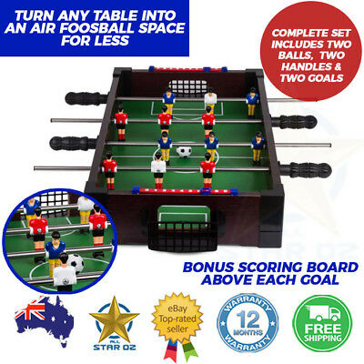 Mini Foosball Soccer Table Top Bench Indoor Small Portable Football Game