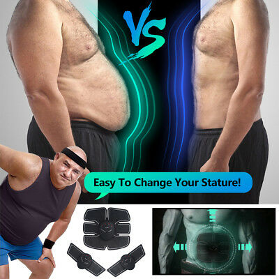 Muscle Stimulator Training Gear ABS Trainer Fit Body Home Workout Exercise Belt