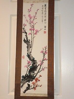 Chinese Flower Painting Scroll