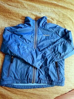 Boys Youth Reversible Fleece Lined Blue Jacket by Patagonia, size 5-6 small