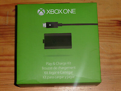 100% Official Genuine Microsoft Xbox One Play And Charge Kit