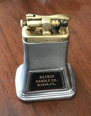 Art Deco Table Lighter, Beamer Handle Company, Manor Pa-metal and brass c.1920's