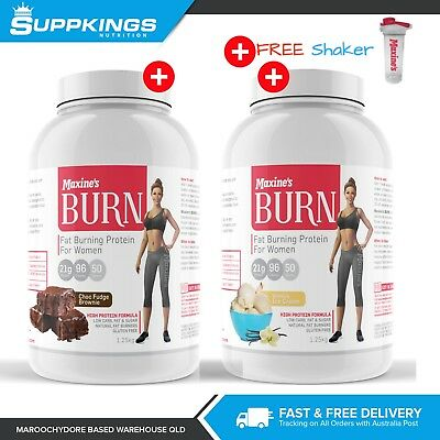 2X Maxine's Burn Protein 1.25kg Fat Burning Protein Powder DOUBLE DEAL