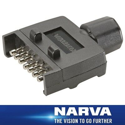 Narva Trailer Connector 7 Pin Flat Plastic Plug 82141BL