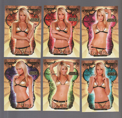 2007 Bench Warmer Gold Edition Lisa Gleave Complete 6 Card Set = Lg-1 - Lg-6