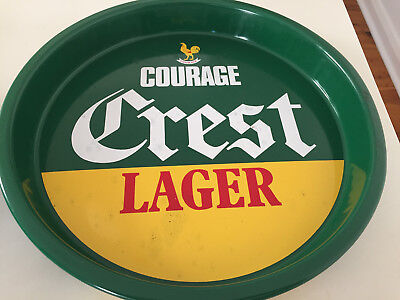 Vintage  Courage Crest Lager Beer Tray