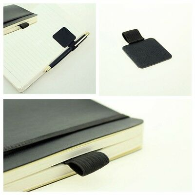 3X Leather Self-adhesive Pen Holder With Elastic Loop Notebooks Jour Huge Saving