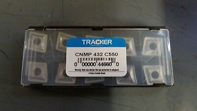 New 10 PCS CNMP 432 C550 Tracker *UNCOATED* Solid Carbide Inserts