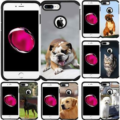 Dog Cat Puppy Design Case Hybrid Cover for iPhone 7 Plus iPhone 8 Plus 5.5 Inch