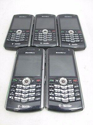 Lot Of 5 Fair Cond T-Mobile Blackberry Pearl 8100 Bar Style Qwerty Gsm Fast Ship