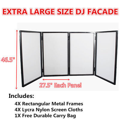 4 Frame Panels DJ Event Booth Lighting Facade Lycra Fabric Screen Free Carry Bag