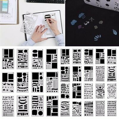 12/20x Bullet Journal Stencil Plastic Planner DIY Drawing Template Diary Craft