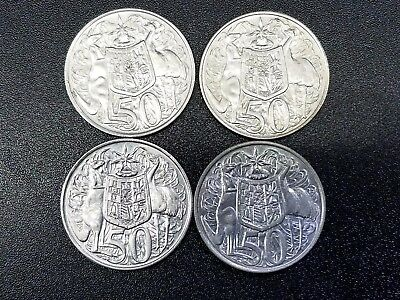 Lot Of 4 Australia Silver  50 Cents 1966 #fn12H