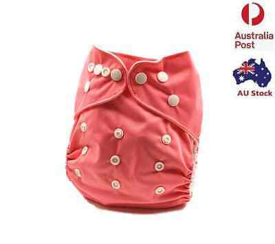 Reusable Modern Baby Cloth Nappies Diapers Adjustable Rose Red Colour MCN (P18)