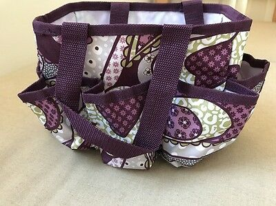 Thirty One Patchwork Paisley Purple Mini Organizer And Timeless Memory Pouch NIP