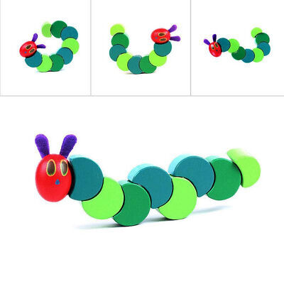Twist Caterpillar DIY Wooden Toy Baby Kids Creative Educational Toy Cute Natural