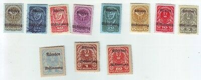 Old Europe *  Local  Karnten  == 10 == Mint + 1 Used