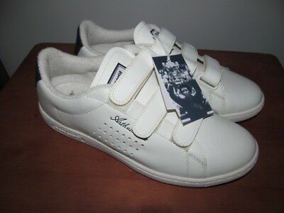 New Wow White Arthur Ashe Le Coq Sportif Court Tennis Retro Collector Shoes-9 US