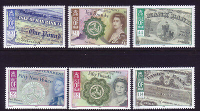 2008 Isle of Man. Bank Notes of the Isle of Man SG1418/23 MNH