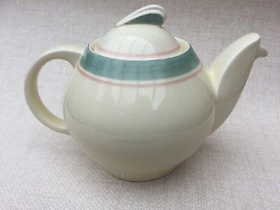 """Collectable Vintage Art Deco Susie Cooper """"Sage Band"""" Banded teapot"""