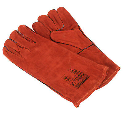 Leather Welding Gauntlets Lined Pair - Sealey