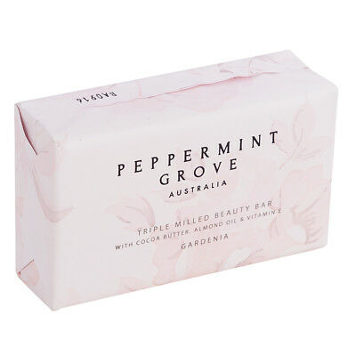 NEW Peppermint Grove Gardenia Triple Milled Beauty Bar 200g