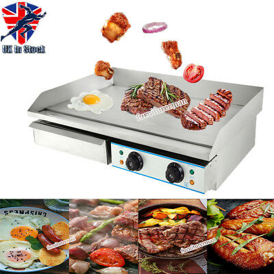 73cm Commercial Electric Griddle Kitchen Grill Flat Hotplate Stainless Steel BBQ
