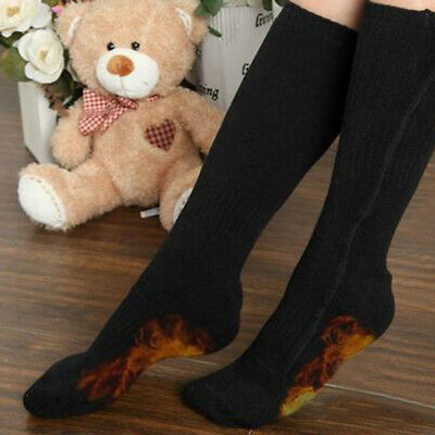 Chargable Electric Heated Socks Feet Warmer 5V USB Charge Winter Warm High Tube