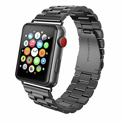 Apple Watch Series 3 Band 42 mm Stainless Steel Butterfly Folding Button Gray