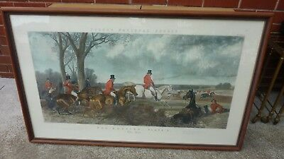 Antique Engraving  Fox Hunting The Run Fores National Sports Hunting J, Harris