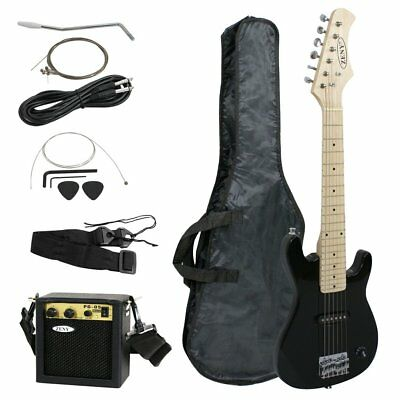 New Electric Guitar For Kids Black With Amp Combo And Accessory