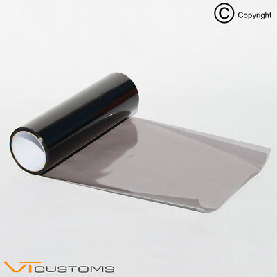 2 lots 30 x 75cm Light Smoke Headlight Tint Film Vinyl Fog Tail Light Wrap