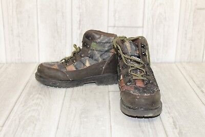 Deer Stags Hunt Youth Hiking Boots, Boys' - Size 1 M, Brown/Camo
