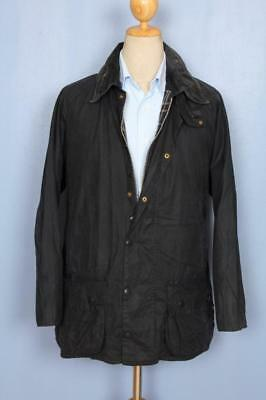 Mens BARBOUR Beaufort WAXED Jacket Navy Size 40