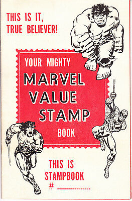 Mighty Marvel Value Stamp Book - Contains 38/100 Stamps - No Serial # - 1974