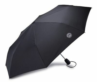 New Genuine Volkswagen Black Folding Pocket Umbrella With Push Button 000087602K