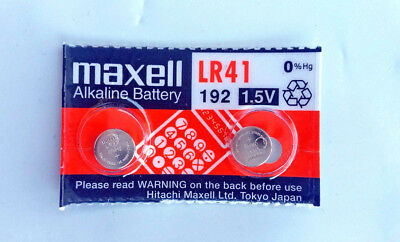 2x Maxell LR41, 192, AG3 Alkaline Battery 0% Hg Expirey 11-2021 **Post from MELB