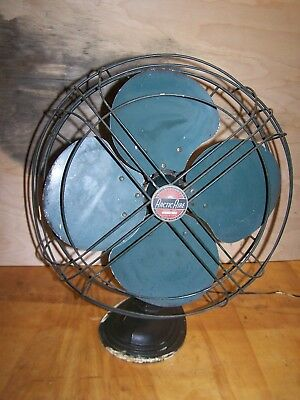 """Vintage 16"""" Arctic Aire Oscillating Table 3-Speed Fan WORKING Model 163"""