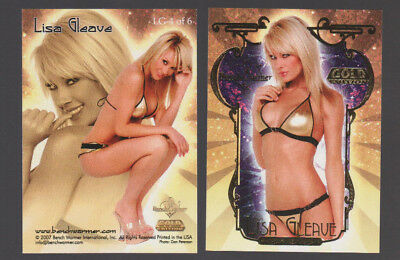 2007 Bench Warmer Gold Edition Lisa Gleave Card Lg-4