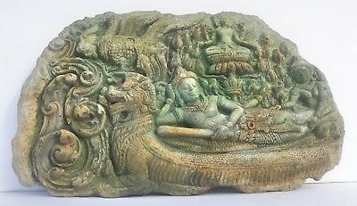 Stone Carved Buddha Krishna Wall Sculpture