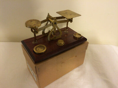 Vintage Letter Balance Scales Made in England Original Shipping Box