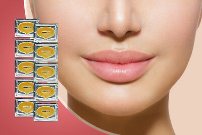 Gold Lip Masks Crystal Collagen Lip Plumping Anti Ageing Moisturising Masks