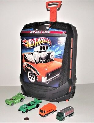 Hot Wheels 100 Car Rolling Storage Case W Retractable Handle FREE SHIPPING