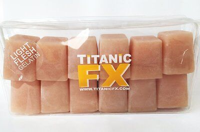 Titanic FX - Prosthetic Gelatin - Light Flesh 12 pack (3 oz. Cubes) - Reusable