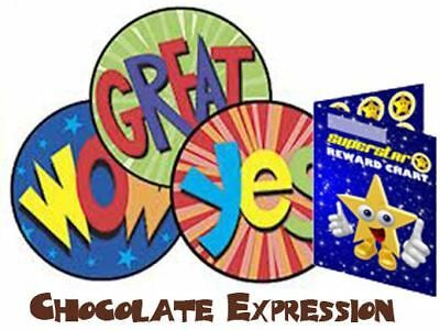 60 Scratch Sniff Excellence Expression Chocolate Scented Reward Stickers & Chart